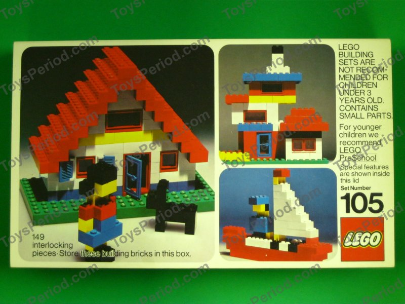 Lego 105 Building Set Vintage Collector S Item From 1973