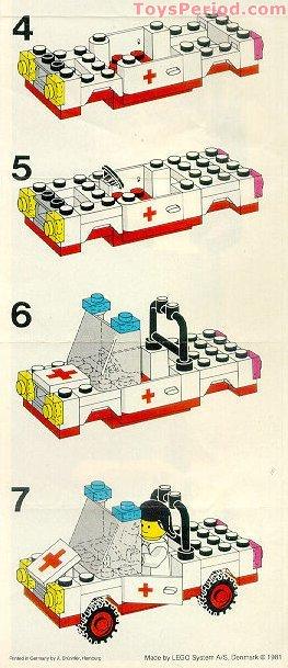 Lego 6629 Ambulance Set Parts Inventory And Instructions