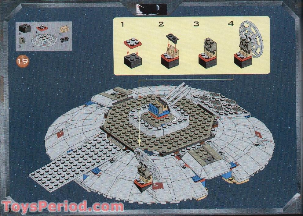 millennium falcon lego instructions 7190
