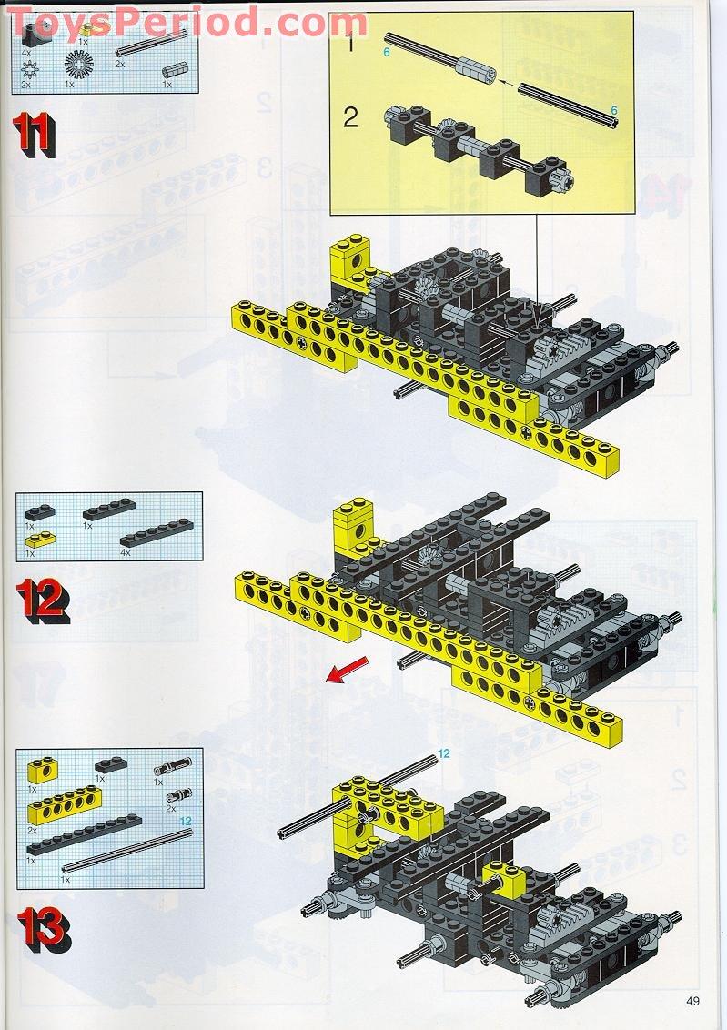 LEGO Bausteine & Bauzubehör 1 x Lego Technic Bauanleitung für Set Universal Set with Storage Case 8062