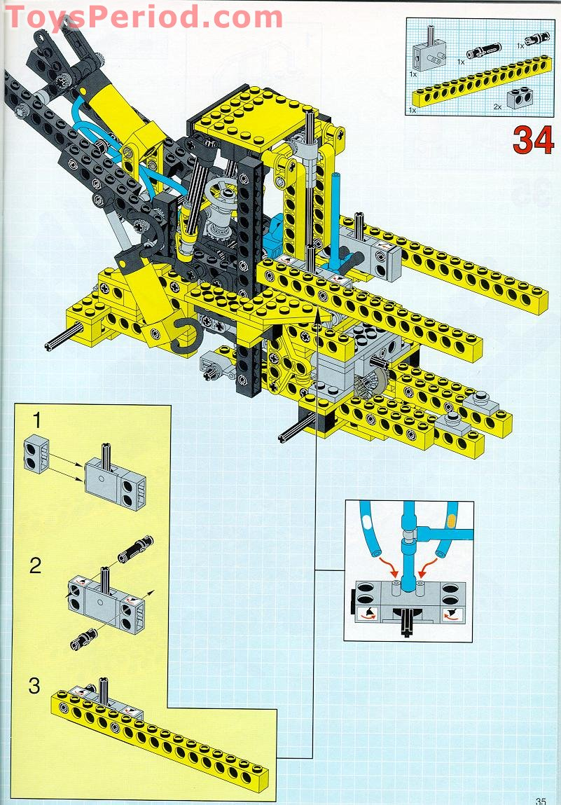 Lego 8459 Pneumatic Front End Loader Set Parts Inventory And 3 4l Engine Diagram Free Download Building Instruction Scan For