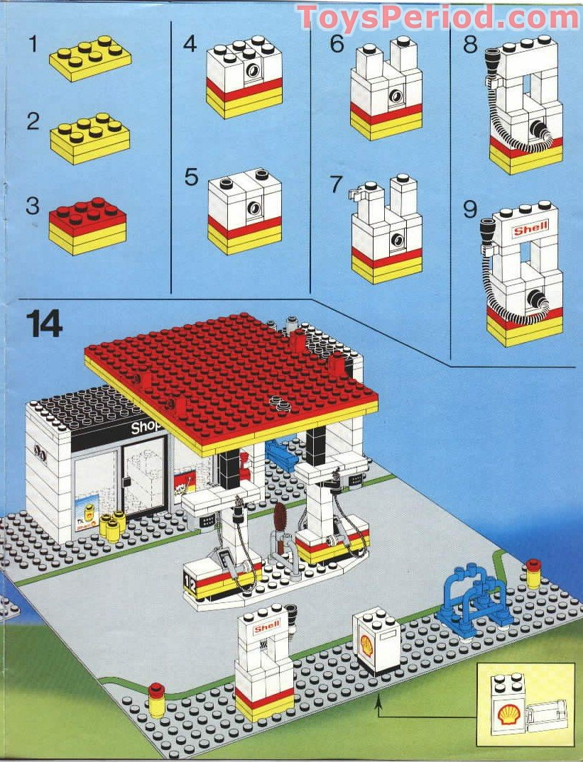 lego 6378 service station set parts inventory and instructions lego reference guide. Black Bedroom Furniture Sets. Home Design Ideas