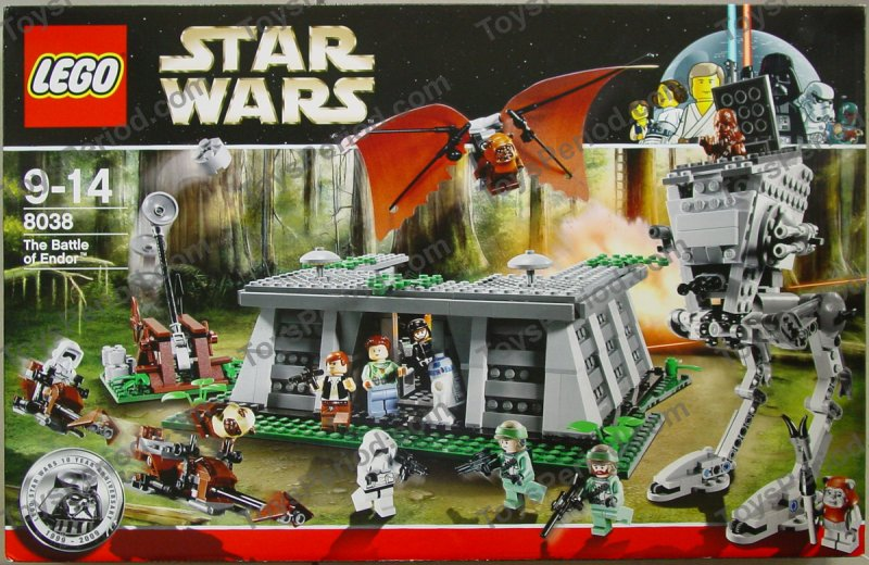 Lego 8038 the battle of endor set parts inventory and - Lego star wars 1 2 3 4 5 6 ...