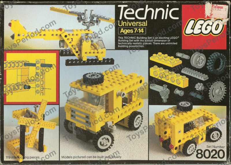 LEGO 8020 Universal Building Set Set Parts Inventory and