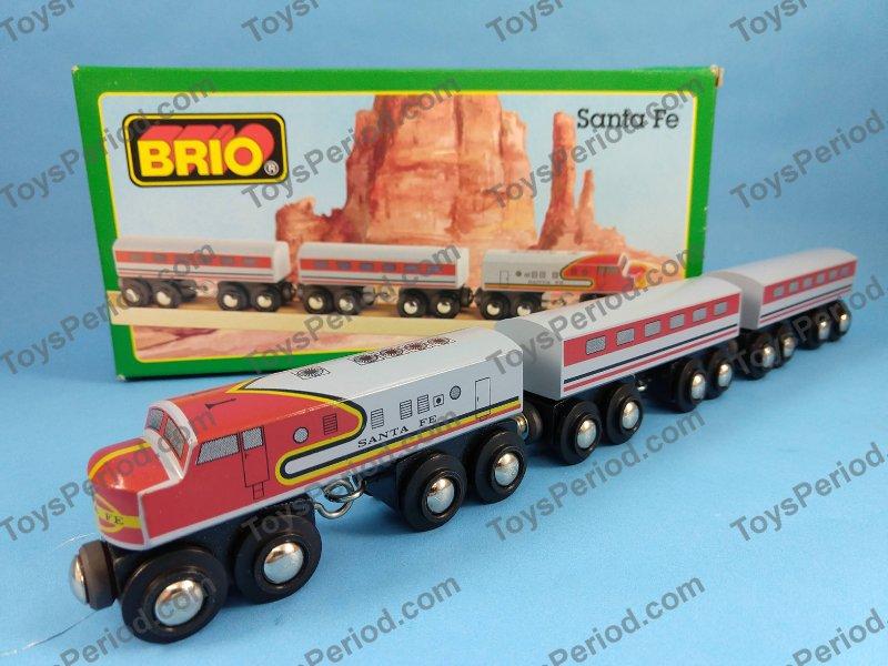 Brio 33423 Santa Fe Train Set Wooden Railway New Sweden Image Number 1