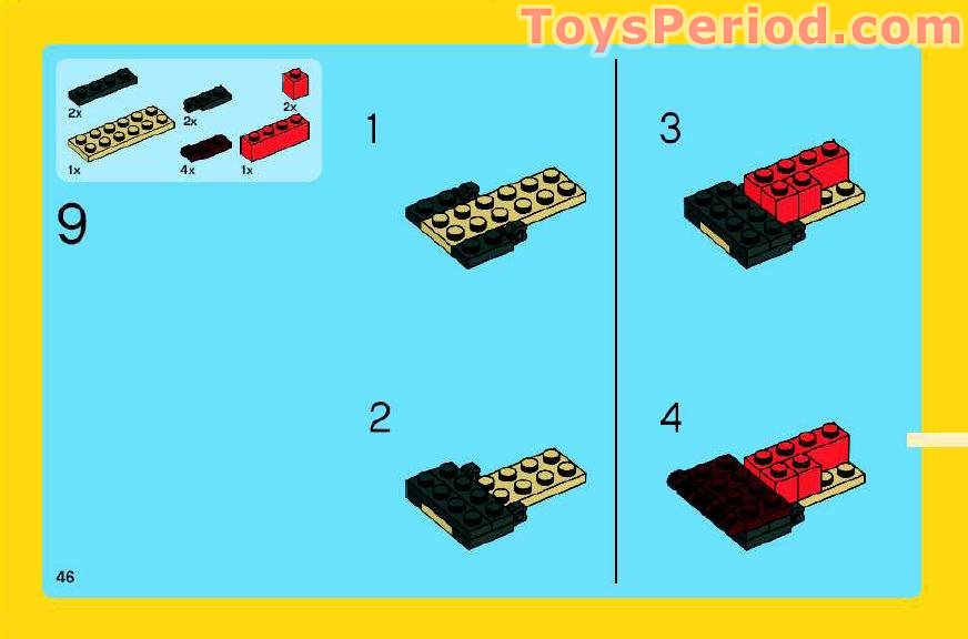 lego creator red creatures instructions