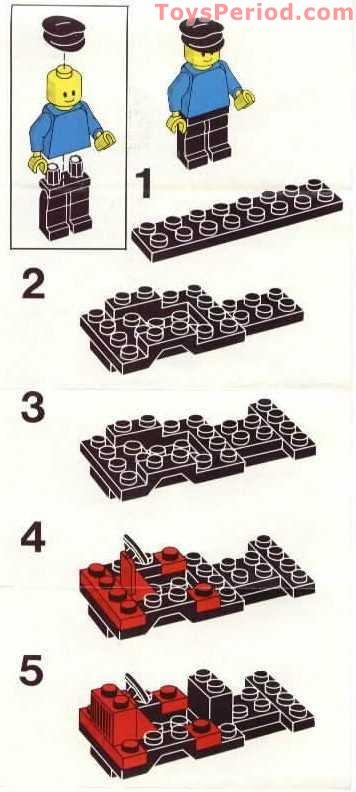 lego  delivery van set parts inventory
