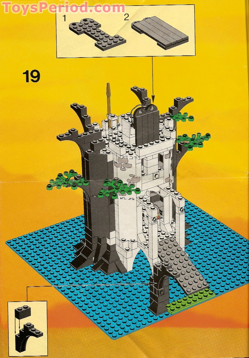 Lego 6077 2 Forestmen S River Fortress Set Parts Inventory