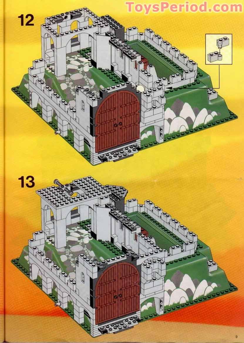 Lego 6081 King S Mountain Fortress Set Parts Inventory And