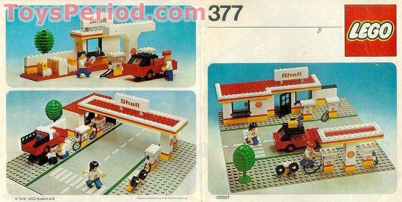 Lego 377 1 Shell Service Station Set Parts Inventory And