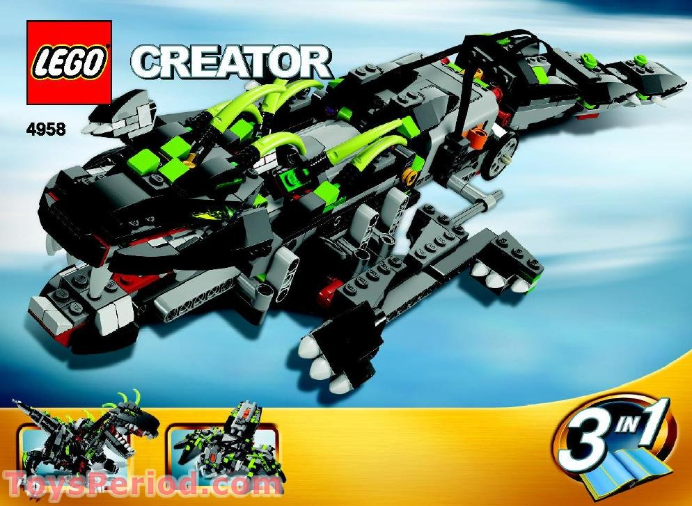 lego 4958 monster dino set parts inventory and