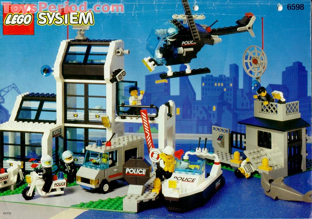 Lego 6598 Metro Pd Station Set Parts Inventory And Instructions