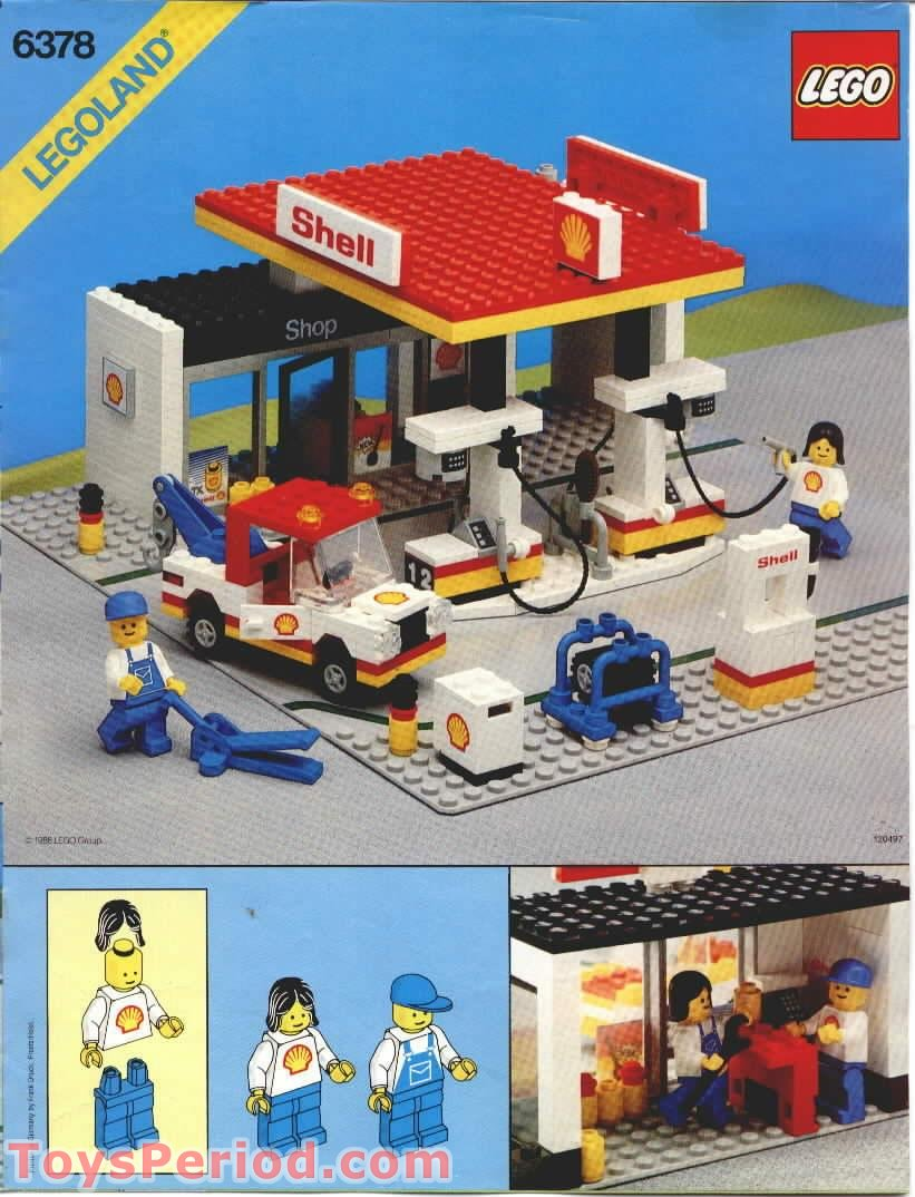 mountain garage ideas - LEGO 6378 Service Station Set Parts Inventory and