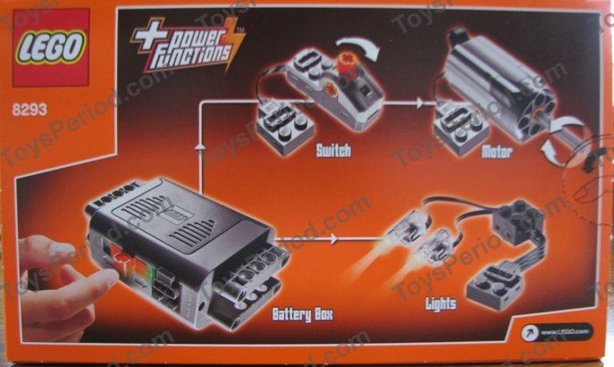 show original title Details about  /Lego 8293 Kit Power Functions Motor Switch LED Lights Battery Compartment