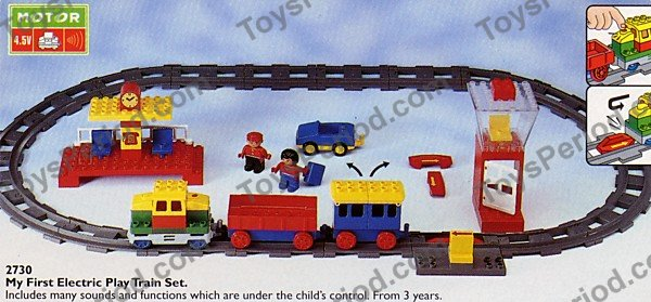 Lego 2730 Battery Play Train Set Set Parts Inventory And Instructions Lego Reference Guide