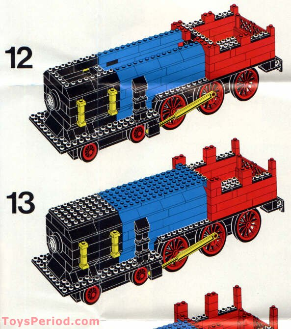 Lego 396 1 Thatcher Perkins Locomotive Set Parts Inventory And