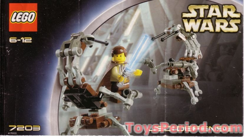 Lego 7203 Jedi Defense I Set Parts Inventory And Instructions Lego