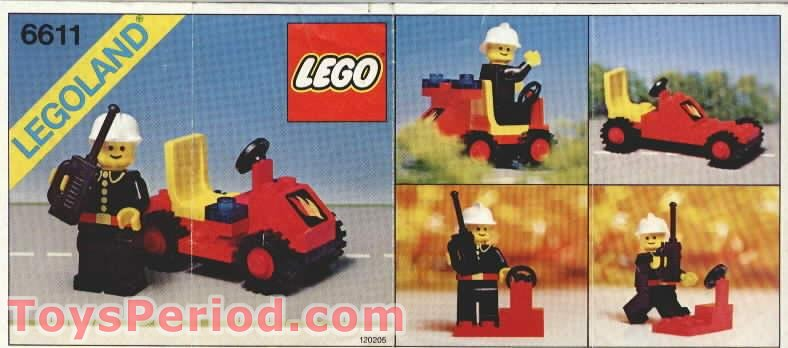 Lego 6611 Fire Chief S Car Set Parts Inventory And
