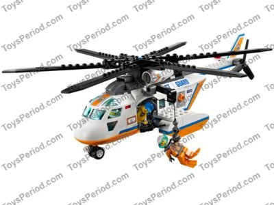Lego 60013 Coast Guard Helicopter Set Parts Inventory And