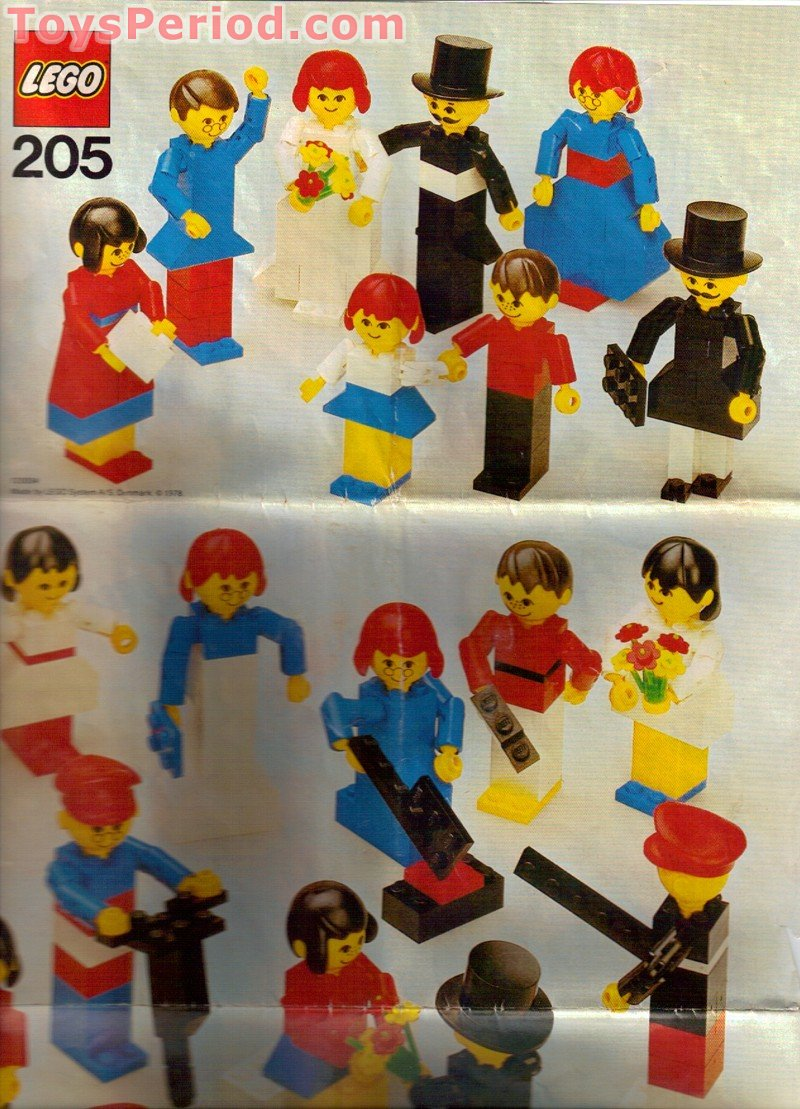 LEGO 205-2 Universal Figure Set Set Parts Inventory and Instructions