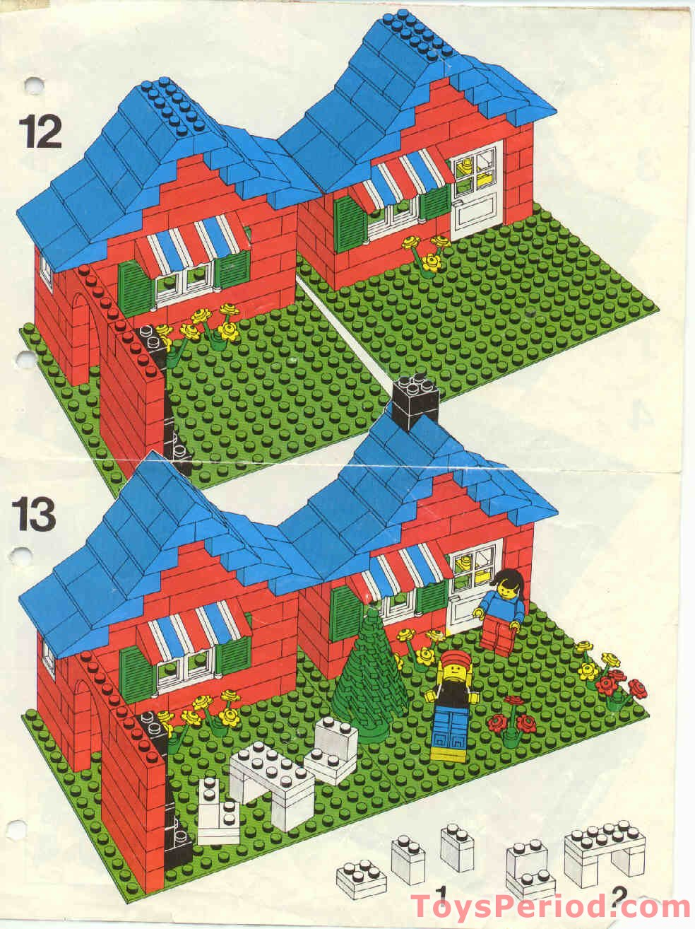 Lego House Plans Lego 376 2 Town House With Garden Set Parts Inventory And