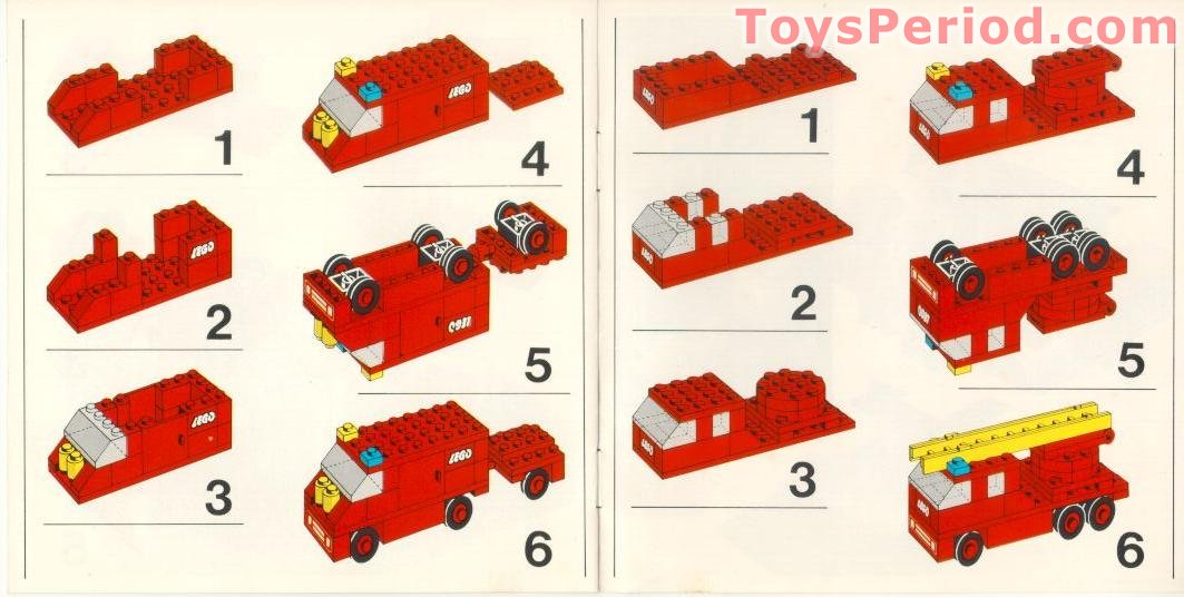 Lego 570 Fire House Set Parts Inventory And Instructions Lego