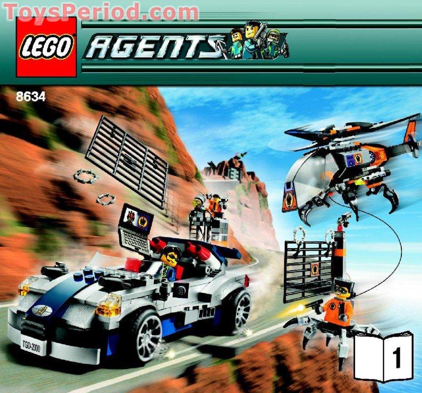 AGENTS STICKER SHEET Turbocar Chase LEGO 8634