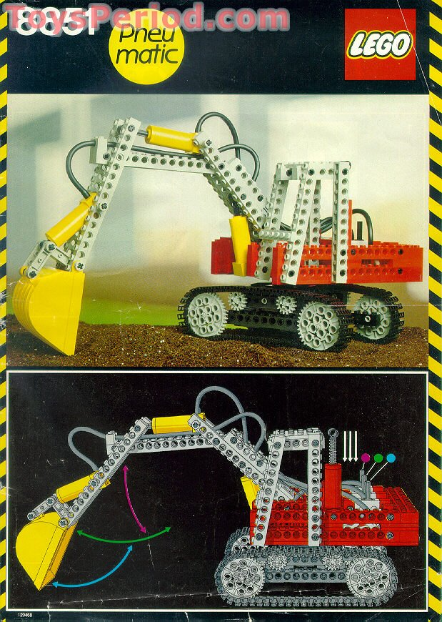 lego 8851 excavator set parts inventory and instructions