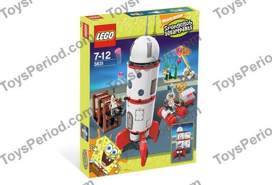 LEGO 3831 Sponge Bob Rocket Ride STICKER SHEET