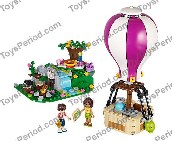 LEGO NEW DARK ORANGE AND BLACK HOT AIR BALLOON TOWN CITY PIECES