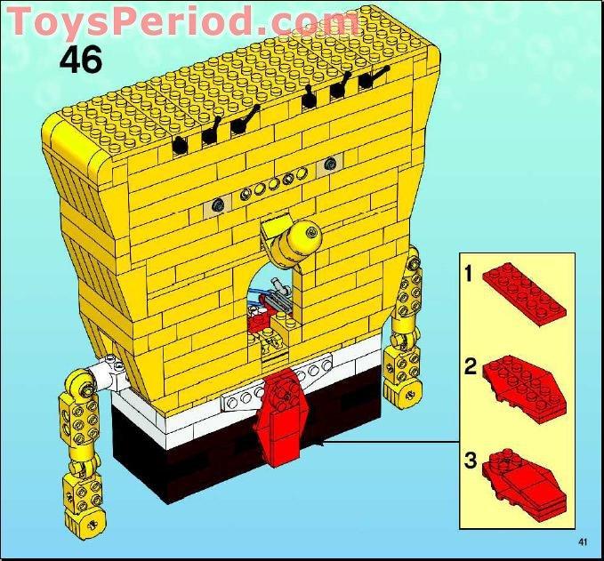 Lego 3826 Build A Bob Set Parts Inventory And Instructions Lego