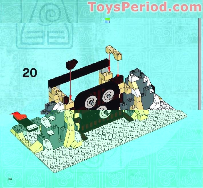 Avatar 2 Y 3: LEGO 3828 Air Temple Set Parts Inventory And Instructions