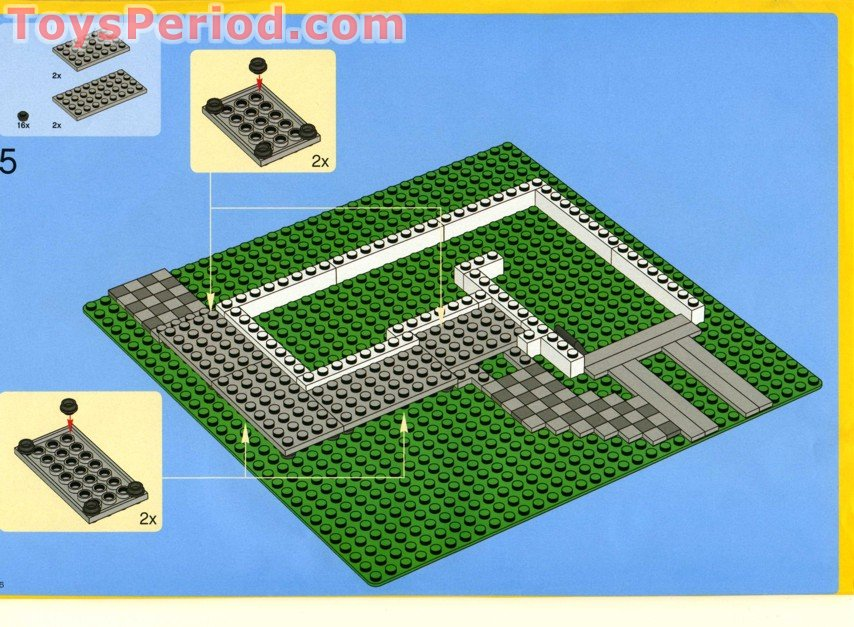 Lego 4956 house set parts inventory and instructions for Building a house step by step