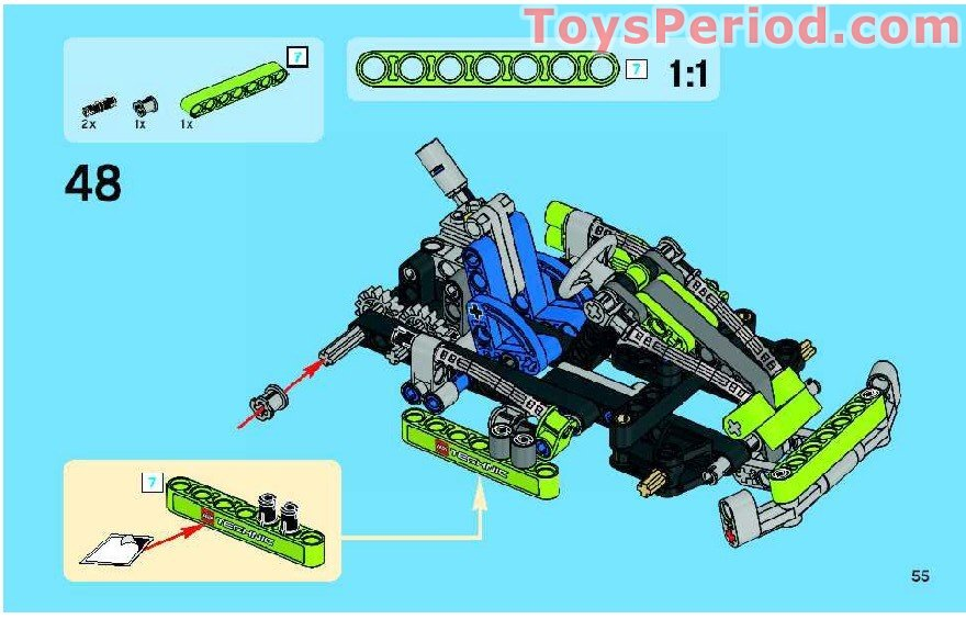Lego 8256 Super Kart Set Parts Inventory And Instructions Lego