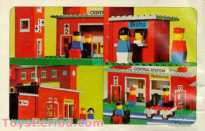 LEGO 148 Central Station Set Parts Inventory and ...