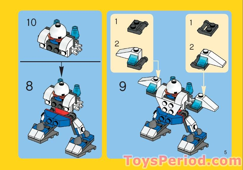Lego 4917 Mini Robots Set Parts Inventory And Instructions Lego