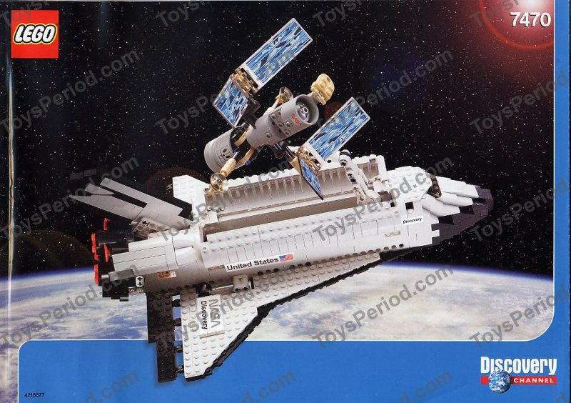 lego 7470 space shuttle discovery set parts inventory and. Black Bedroom Furniture Sets. Home Design Ideas