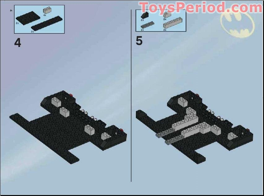 Missing Lego Brick 3034 DkStone x 6 Plate 2 x 8