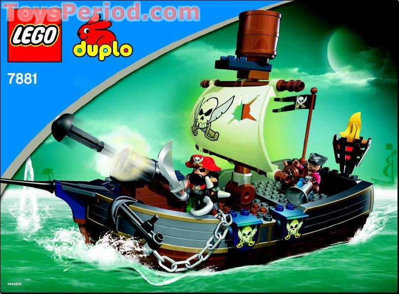 Lego 7881 Duplo Pirate Ship Set Parts Inventory And Instructions