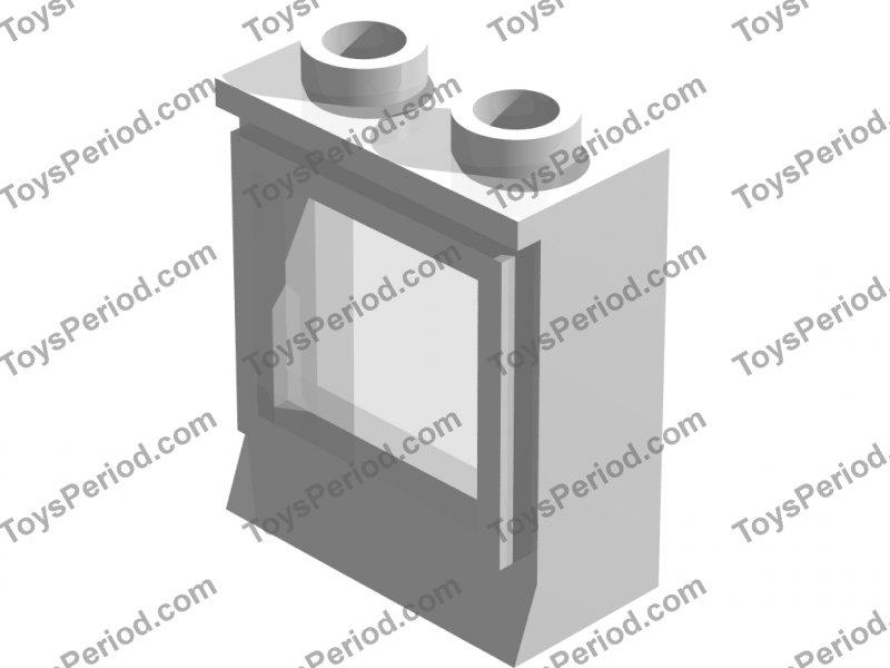 1x LEGO® Fenster 1x2x2 mit festem Glas klar 7026 c01 NEU Weiss RAR