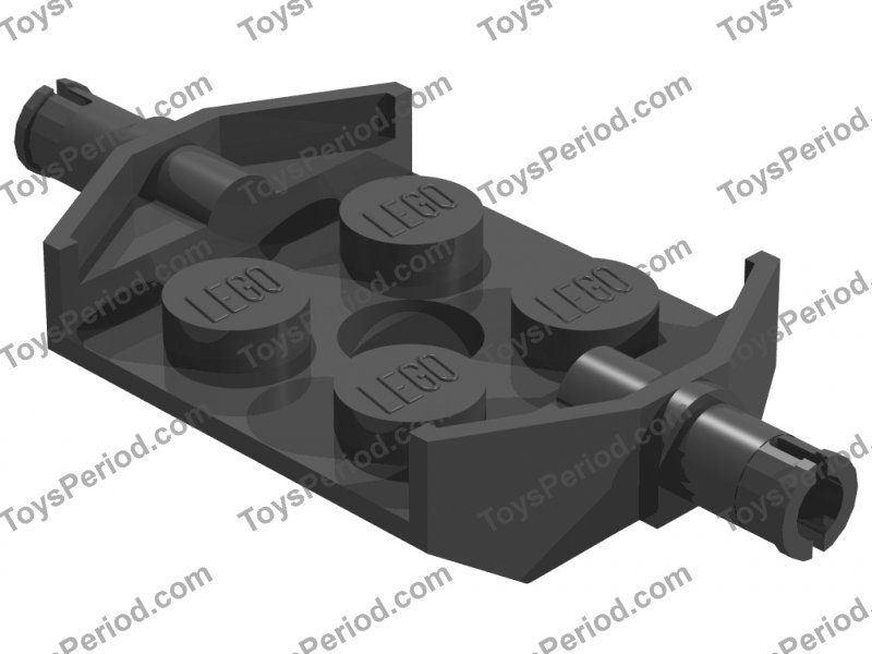 Lego 5 New Black Plates Modified 2 x 2 with Wheels Holders