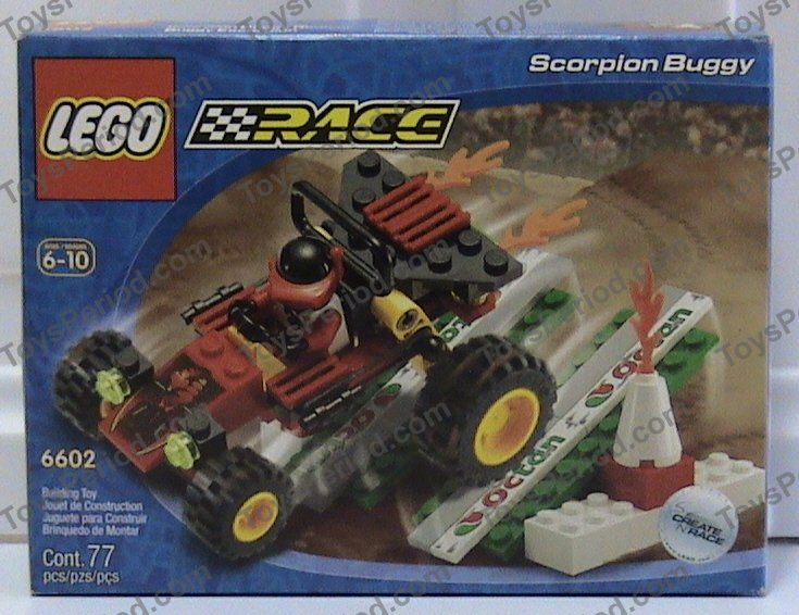 LEGO 6602-2 Scorpion Buggy Set Parts Inventory and