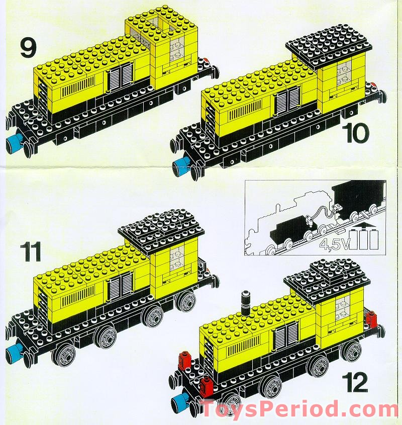 Lego 162 Locomotive Without Motor Set Parts Inventory And