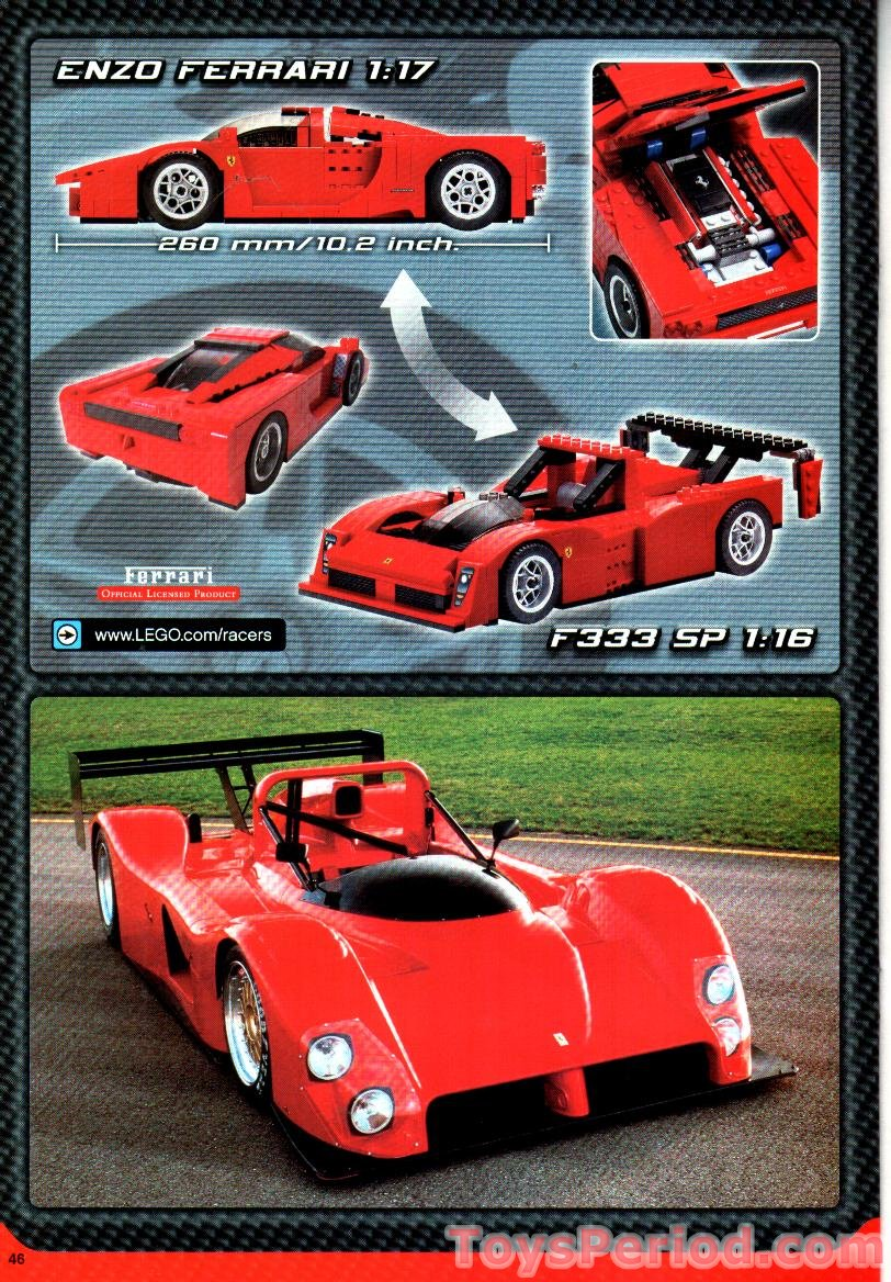 Lego 8652 Enzo Ferrari 1 17 Set Parts Inventory And Instructions Lego Reference Guide