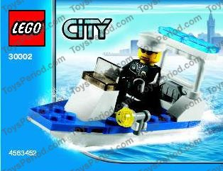 lego city police boat instructions