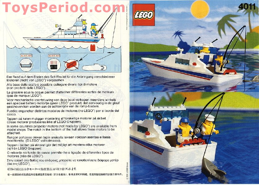 Lego 4011 Cabin Cruiser Set Parts Inventory And Instructions Lego