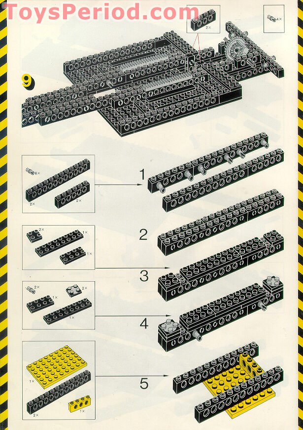 lego technic chassis instructions