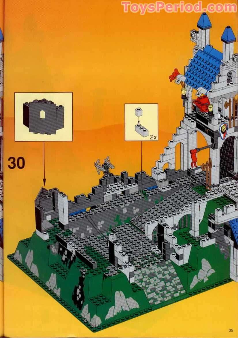 Lego 6090 Royal Knights Castle Set Parts Inventory And Instructions