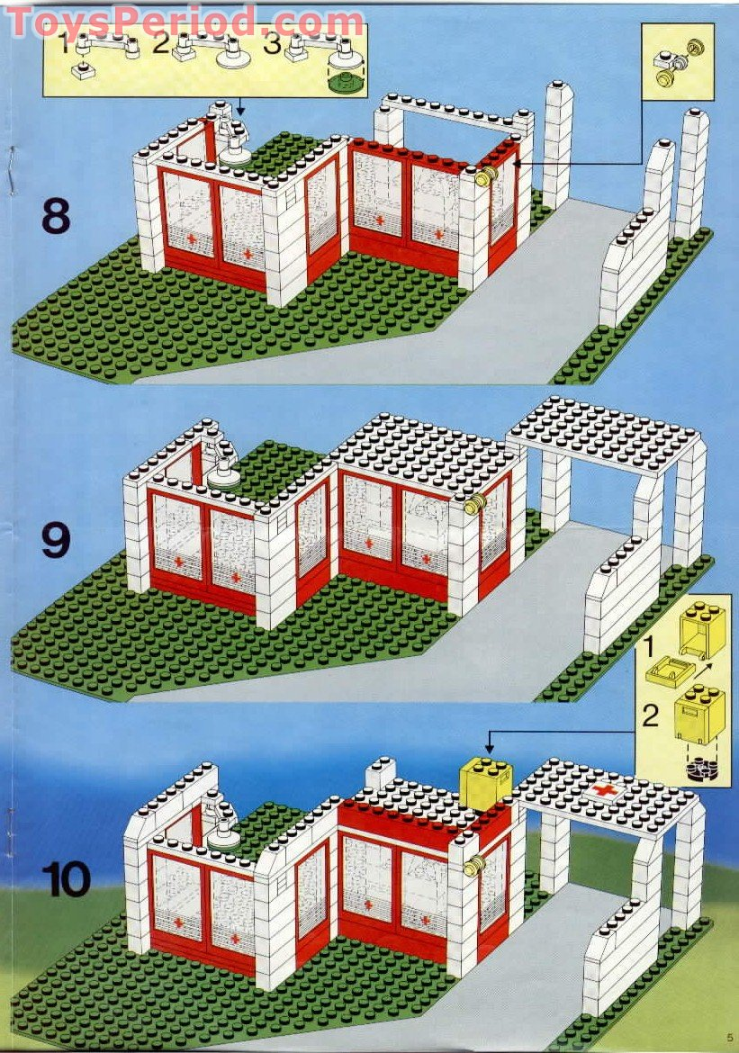 Lego 6380 Emergency Treatment Center Set Parts Inventory
