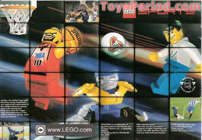 LEGO 3428 One vs One Action Set Parts Inventory and Instructions ...